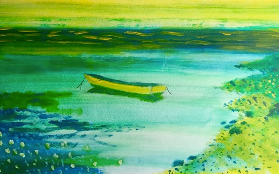 Lakeside Peace...a painting